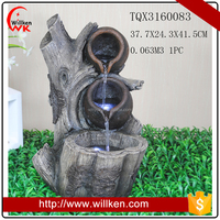 2017 LED indoor table top polyresin water fountain