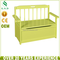 wholesale simple green teak solid wooden storage long bench seat chair design
