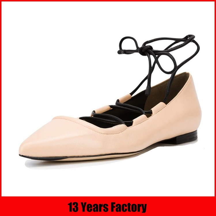 high quality crepe sole lace up women casual shoe
