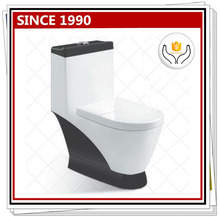 1001B Siphonic one piece toilet black water closet parts