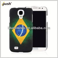 Colorful National Flag Design Mobile Phone For Samsung Galaxy S4 I9500 Hard PC Case Protective Case hard shell case clear