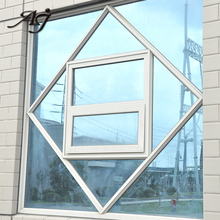 Clear glass office decorative sash window aluminum alloy sliding window