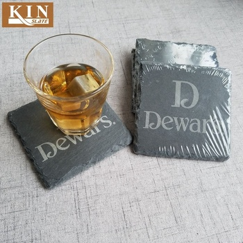 Most popular natural slate drink coaster with laser