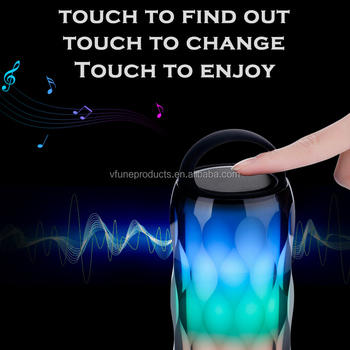 Private Moulding Wireless LED Speaker Mini Portable Touch Control Color Changing Speaker
