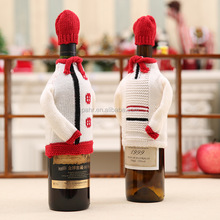 Christmas Wine Decoration Winterr Knit Christmas Sweater Wine Bottle Covers
