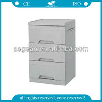 AG-BC002 CE ISO abs 3-drawer medical wall cabinets