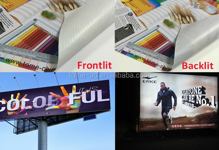 Pvc Matte Frontlit Backlit Flex Banner Rolls Flex