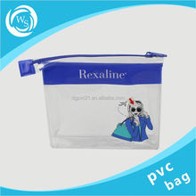 clear pvc slider zip bags