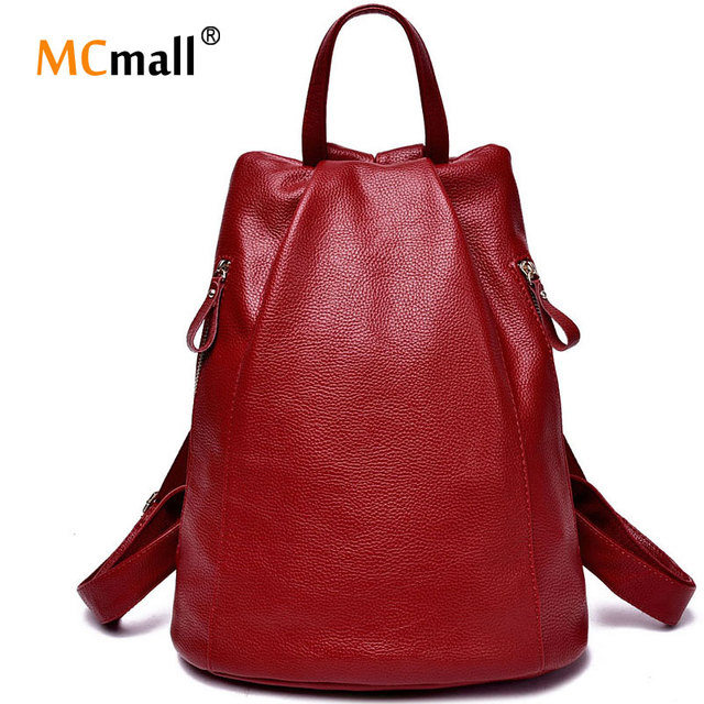 women genuine leather backpacks for women vintage school bag for college girl travel bag backpack mochila santoro escolar BD-001