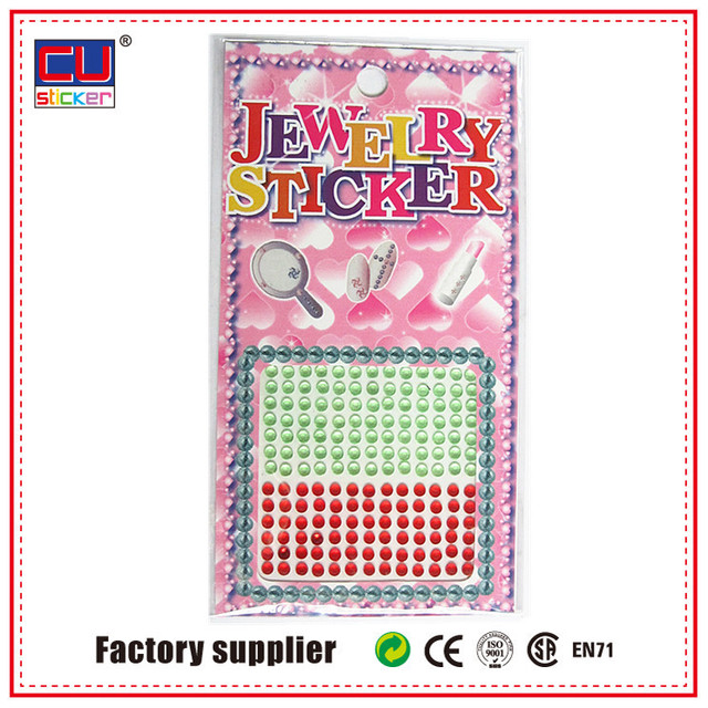 Customized crystal cell phone rhinestone stickers 3d nail sticker