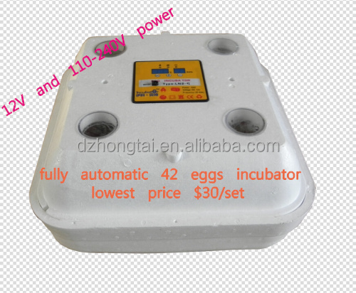 Best quotation & quality The newest 42 chicken eggs hatchery machine