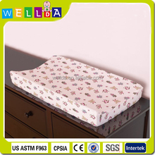 allover printing waterproof contoured baby changing pad cover