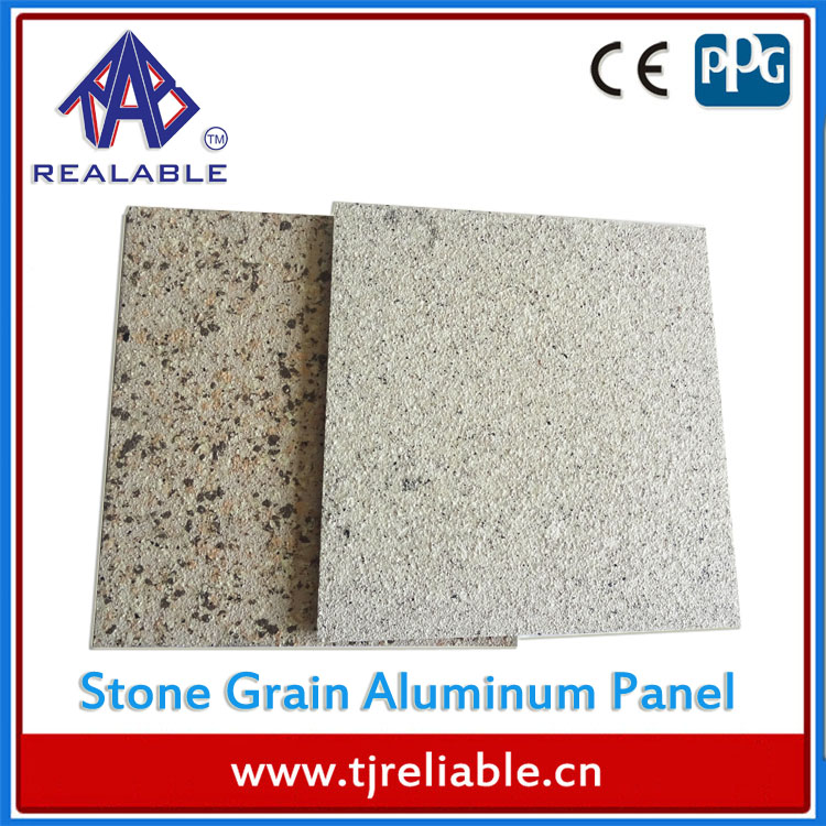PVDF Coating Marble/Stone Veneer Panel for Exterior Aluminum Solid/Single Wall Panels