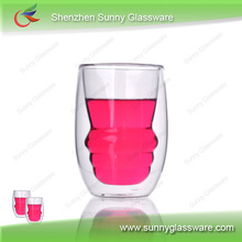Heat Resistant Double Wall Drinking Glasses Cups