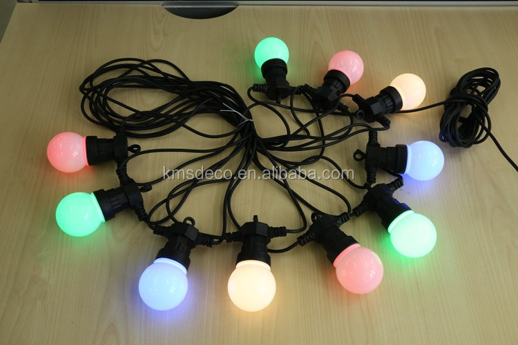 Low Voltage globe lights string with white bulb 10M 50L