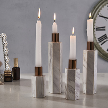 religious glass tube candlestick candle holder