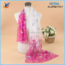 Customized Design Welcome Silk Scarves