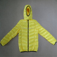 manufacturing buying wholesale boutique clothing china, real duck down hoody winter bomber jacket