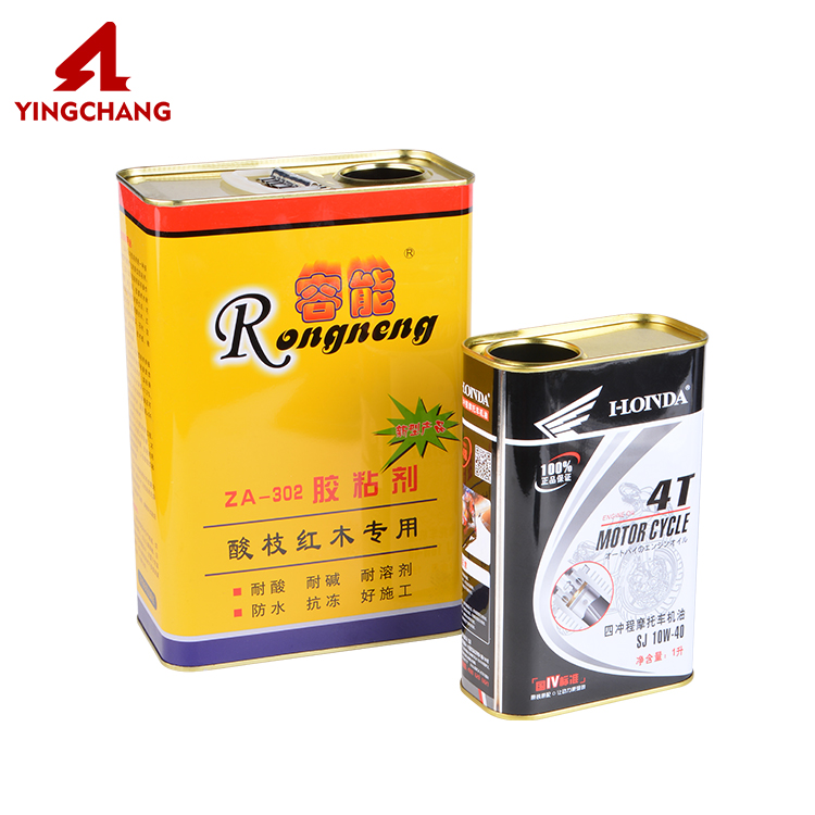 4 L metal empty square tin chemical can