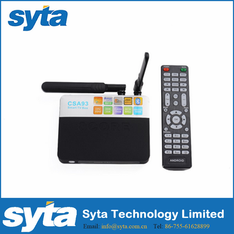 SYTA Newest Android 6.0 OS Set TOP Box/TV receiver with CPU S912/H.264-H.265/BT 4.0/Octa core/Wifi AP6330/4K2K@60FP-CSA93