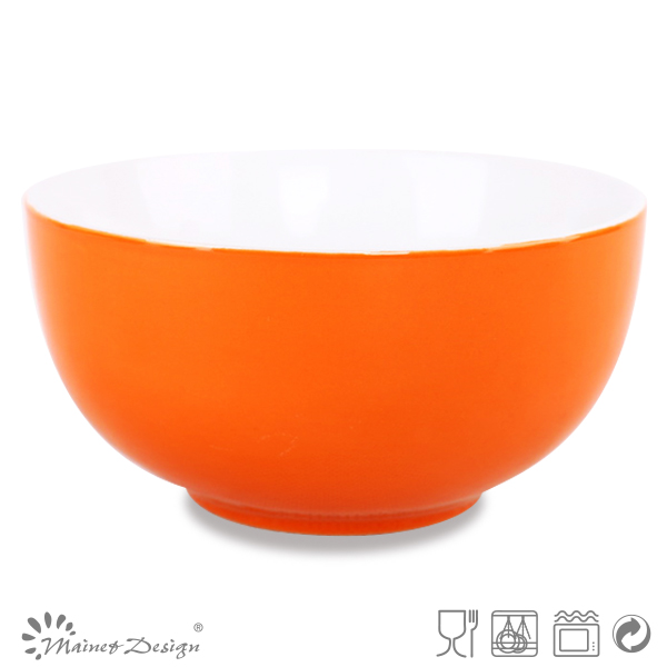 kitchen ceramic crockery orange fruit bowl