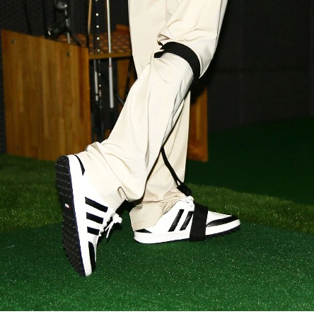 Golf foot correction band Golf Swing Training Practice Guide Gesture Alignment training