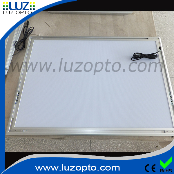 21mm deep silver or black aluminum slim led light frame