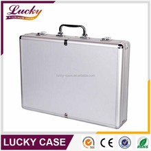 Silver Aluminium Briefcase Metal Flight Case with Tool Panel