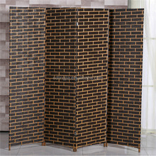 Bamboo Shower Waterfall Folding Antique Decorative Wooden Screen