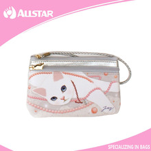 China supplier cat pattern cute cosmetics cosmetic bag makeup bag purse