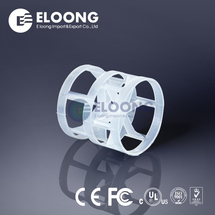 Eloong Large Void Space Best Random Packing PP Plastic Pall Ring For Seperation Device