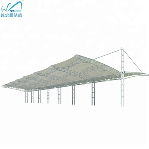 Pdvf etfe film carport shade cover tensile membrane structure