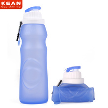 Eco-friendly BPA Free Silicone Collapsible Sports Direct Water Bottle