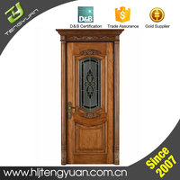 China Supply Popular Model Red Walnut Original American Wood Door