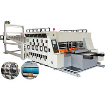 sticker printing press cutting Automatic Feed Flexo Printing Die Cutter Slotter machine
