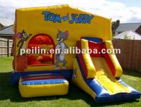 2012 inflatable tom and jerry bouncy and slide combo