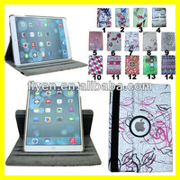 360 roating pu leather case for ipad air magnetic stand smart cover 2014 hot sale new style
