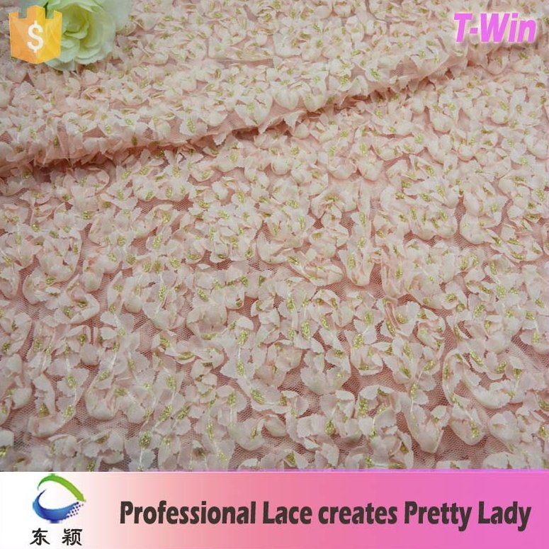 3d floral voile lace fabric for evening dress 3d voile lace fabric
