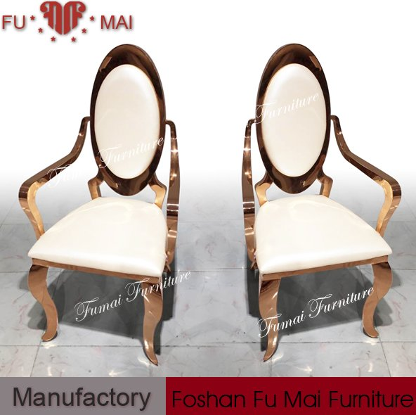 made in foshan low price cheap metal king throne dining chairs