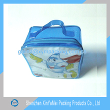 reusable top handled pvc packaging bag for baby care products