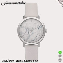 Dial the marble pattern man watch Japan movt quartz watch stainless steel
