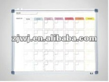 ZJWJ magnetic weekly printed whiteboard with grid line