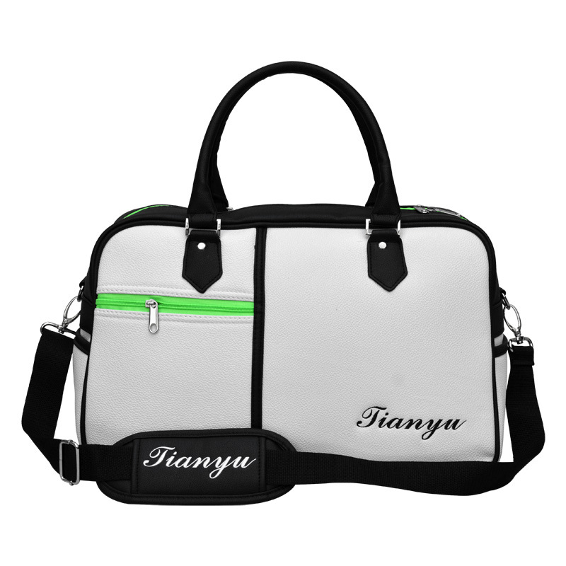 white green golf clothes bag/sky yu ha fancy golf clothes shoesbag/fancy golf bag