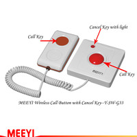 wireless calling system new waterproof call button for elderly, hospital, nursing house and toilet Y-SW-G33