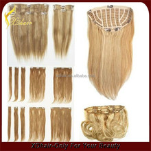 curly blonde remy hair extensions one piece clip in human hair extensions