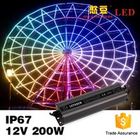 wholesale 12V/24VDC 200W for led lighting CCTV 50-60Hz waterproof switching power supply