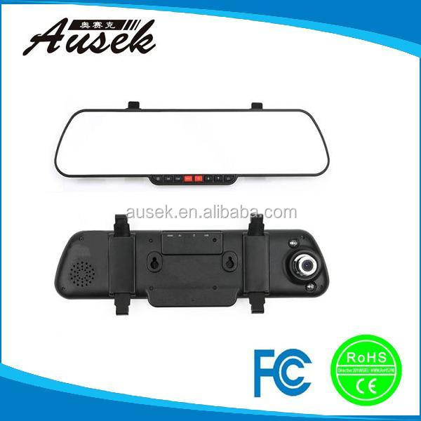 Factory price 2.7 inch screen 140 degree wide lens anti-shaking car mirror