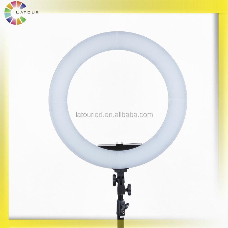 Studio 36w 5600k led camera video ring light kit with carry bag for makeup photo HD-14D