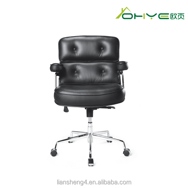 Office Furniture Swivel Black Leather Chair,Chair Lounge For Meeting Room