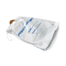 1.4 Mil 20''X20''+4'' Large thick clear plastic drawstring patient belonging bag